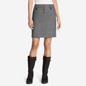 Eddie Bauer Wool Skirt w/Pockets Size 14 Womens